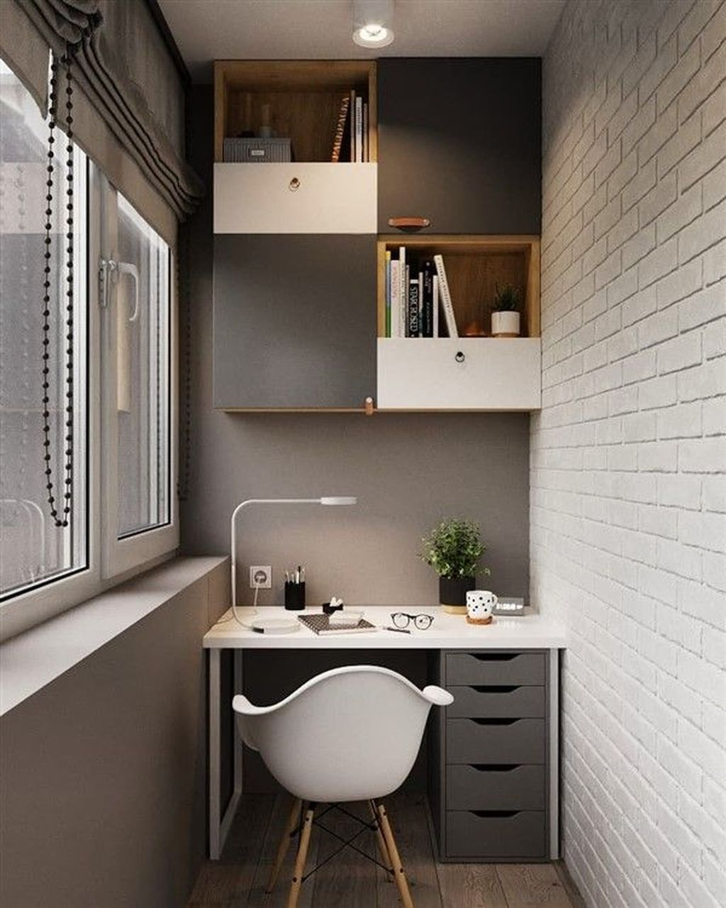 Inspiring Small Office Ideas For Small Space 19