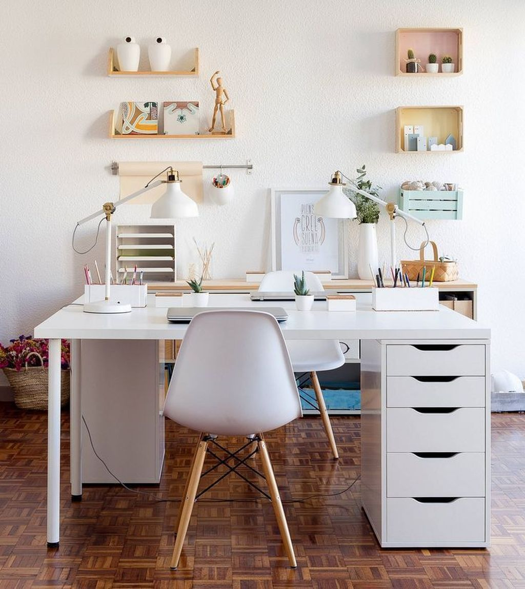 Inspiring Small Office Ideas For Small Space 28