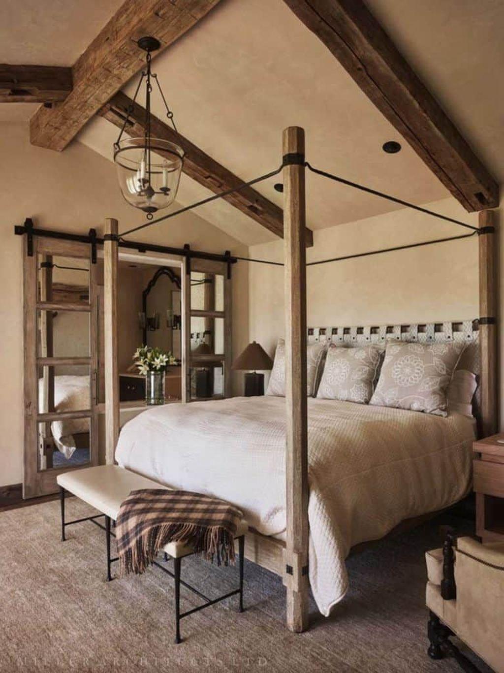 Lovely Rustic Bedroom Design Ideas 27