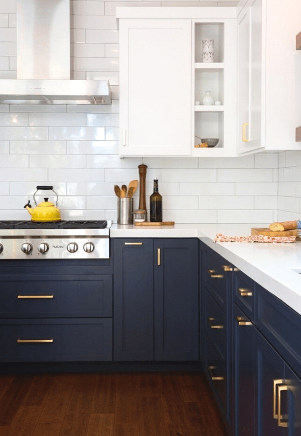 Nice Dark Blue Kitchen Cabinets With Luxurious Accent 21