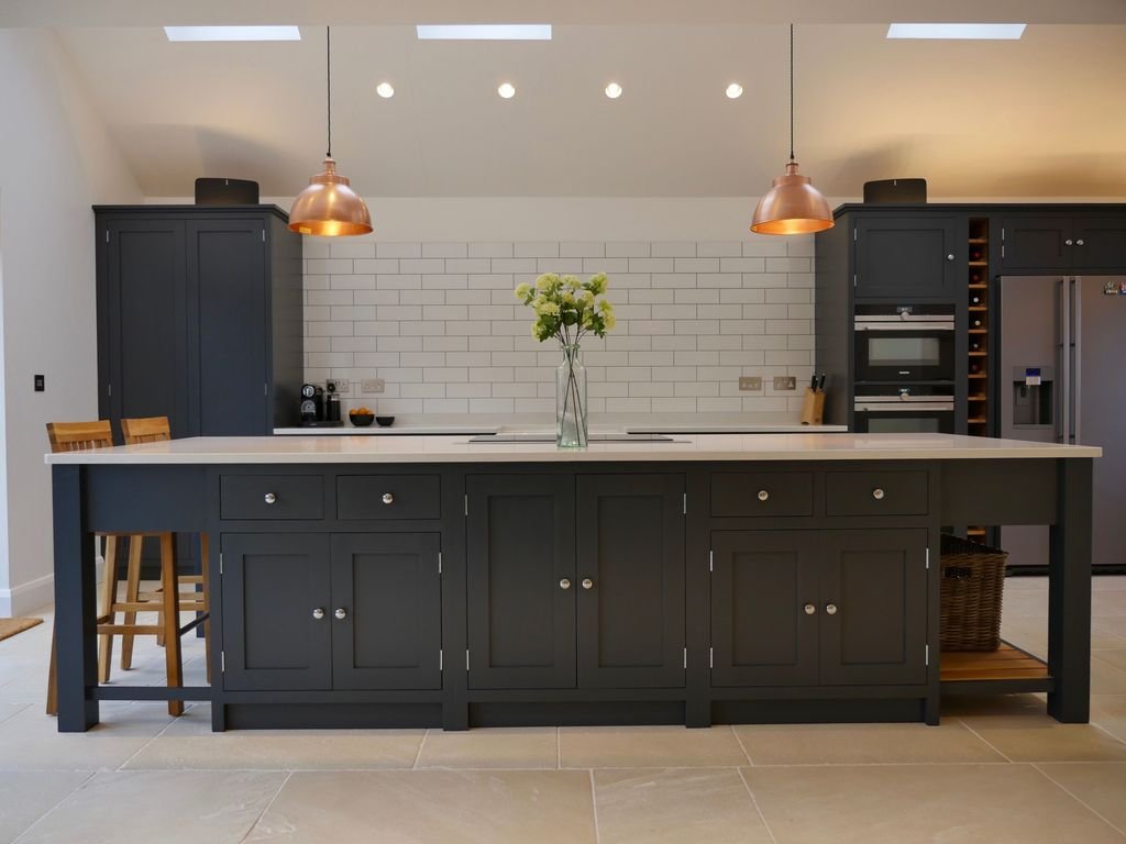Nice Dark Blue Kitchen Cabinets With Luxurious Accent 35