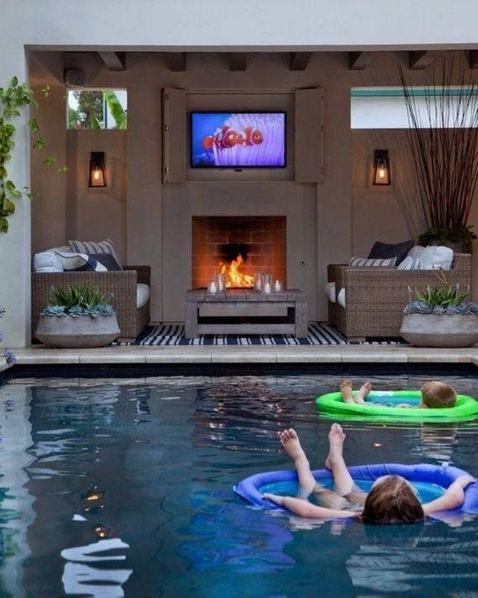 Stunning Backyard Pool Landscaping Ideas 25