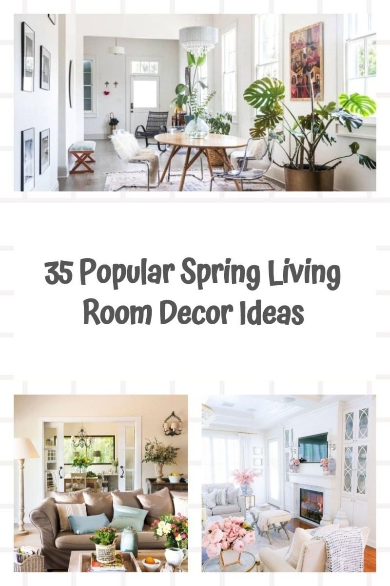 35 Popular Spring Living Room Decor Ideas