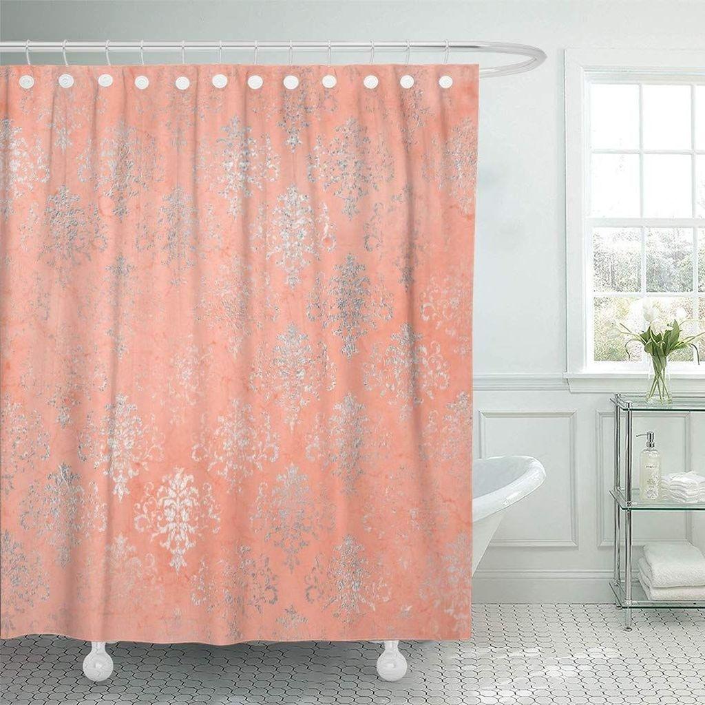 Affordable Coral Color Bathroom Decor Ideas 01