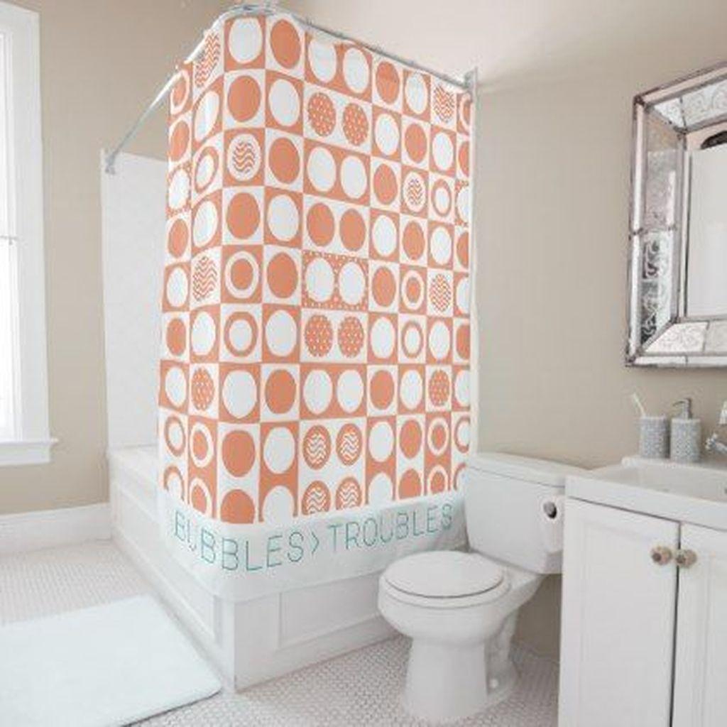 Affordable Coral Color Bathroom Decor Ideas 10