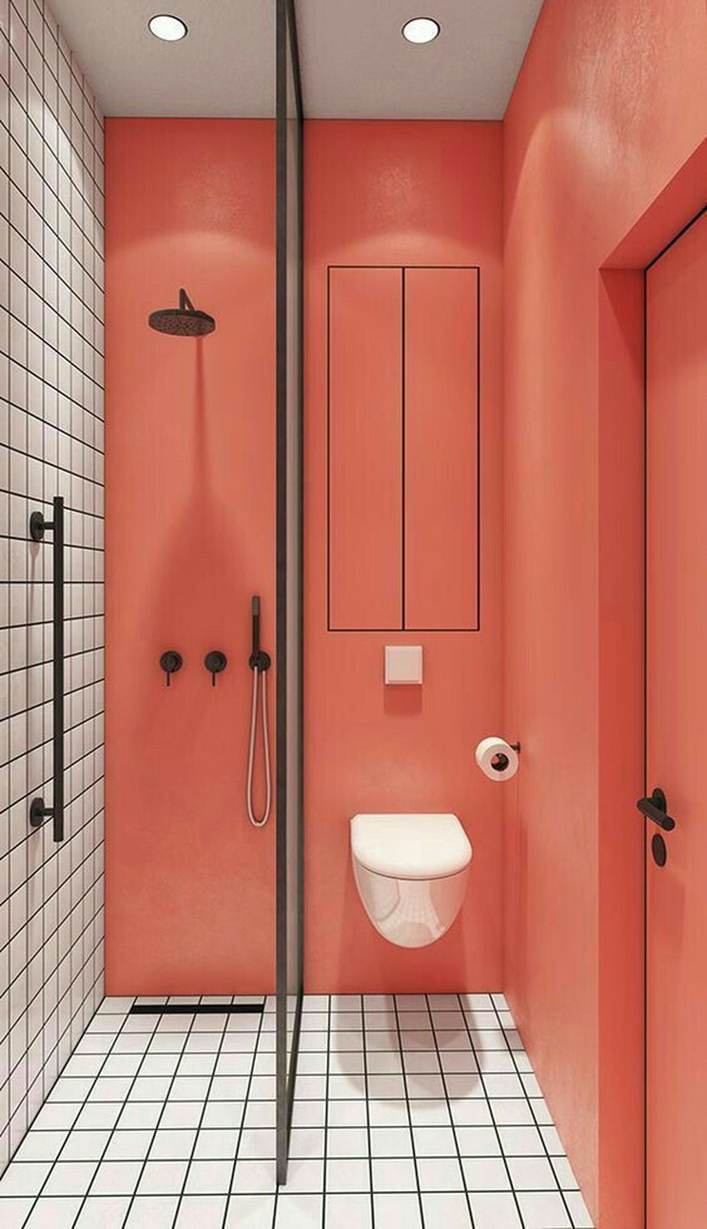 Affordable Coral Color Bathroom Decor Ideas 31