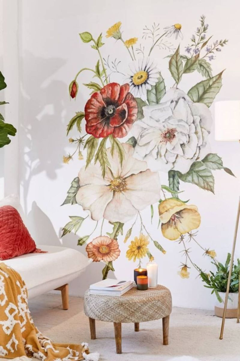 Amazing Floral Living Room Decor Ideas That You Will Love 06