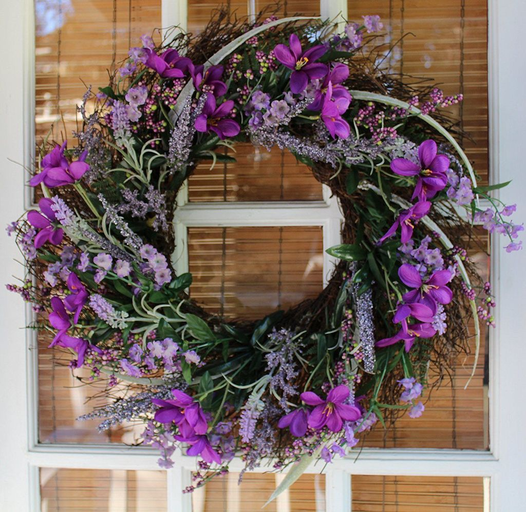 Awesome Spring Wreath Ideas For Front Door Decor 02