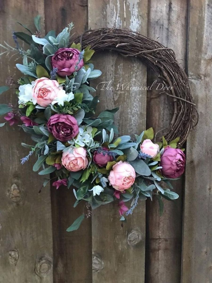 Awesome Spring Wreath Ideas For Front Door Decor 04