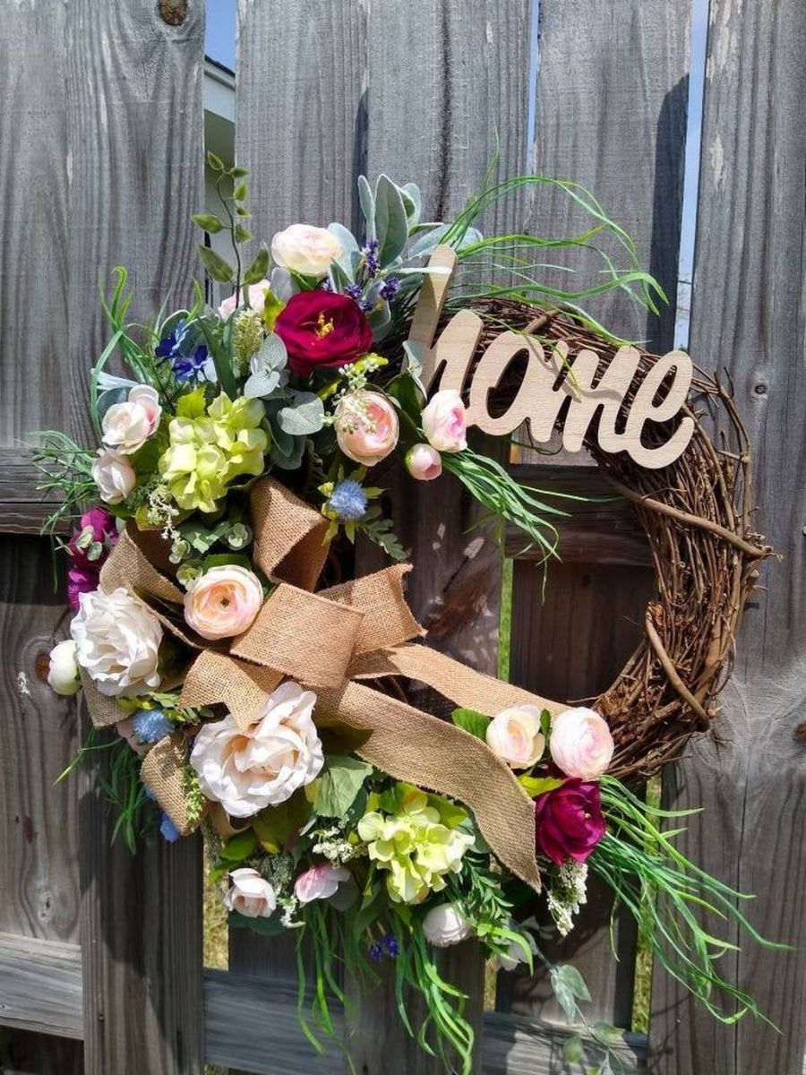 Awesome Spring Wreath Ideas For Front Door Decor 20