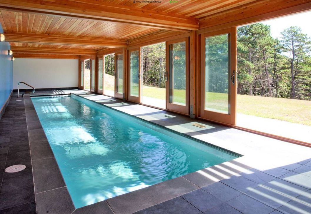 Beautiful Modern Indoor Pool Design Ideas You Must Have 26