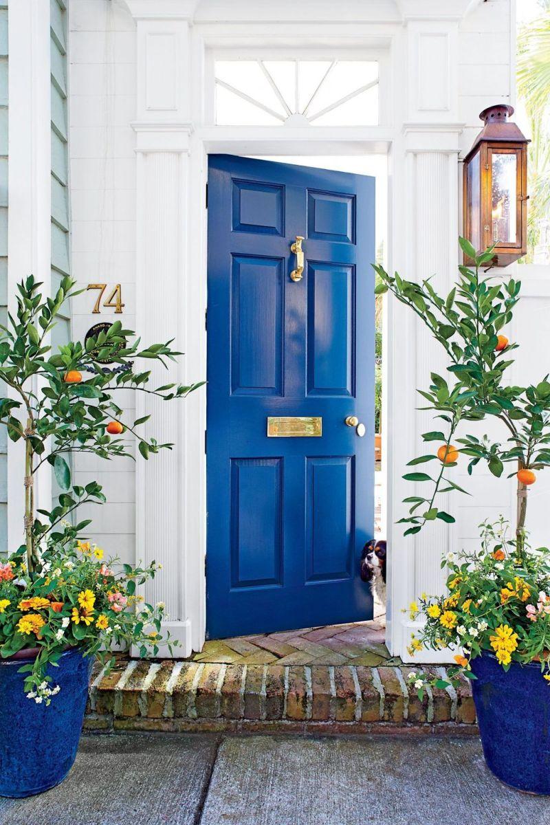 Beautiful Summer Planters Ideas For Front Door Decor 15