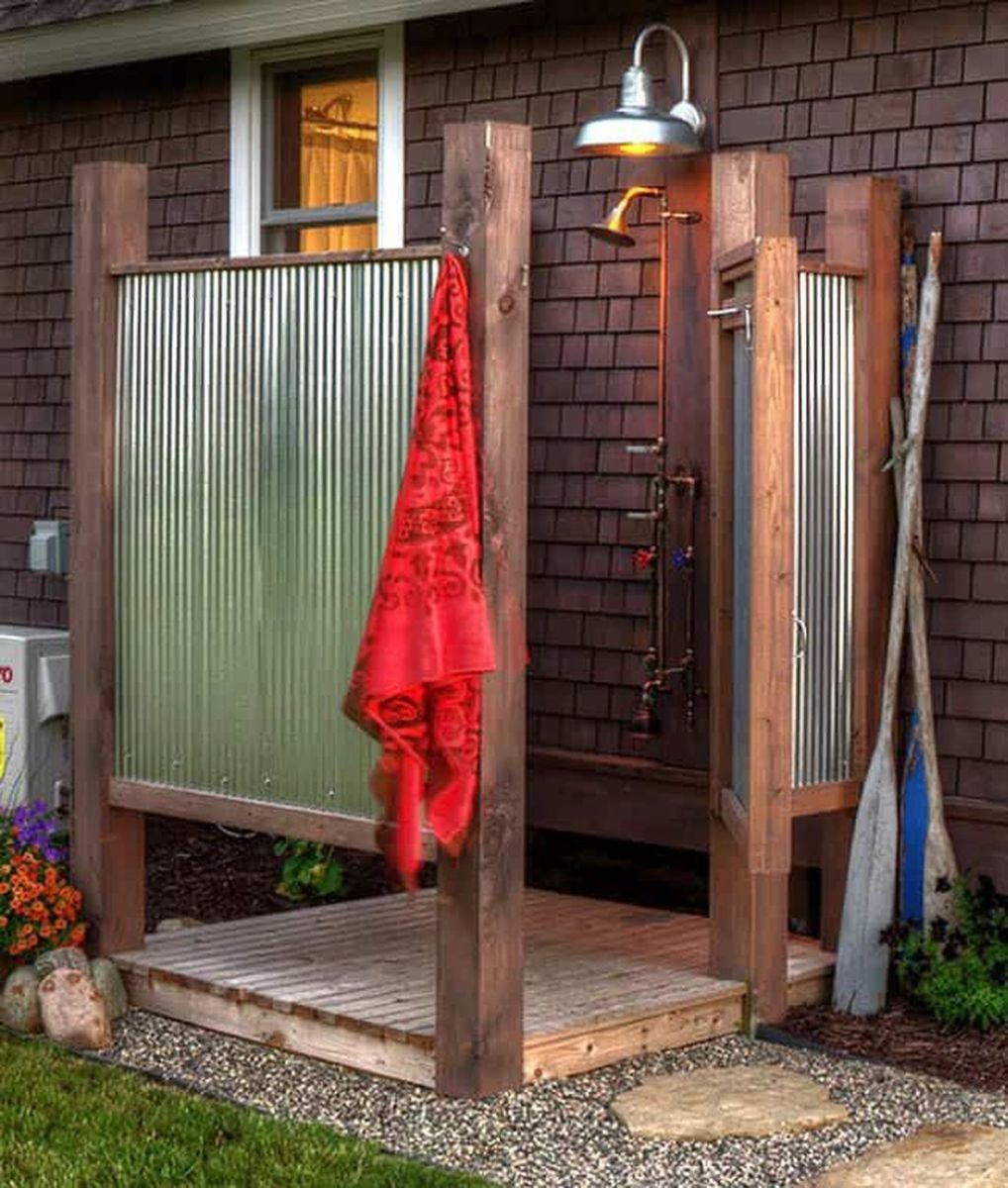 Creative Outdoor Bathroom Design Ideas For Enjoying Summer 20