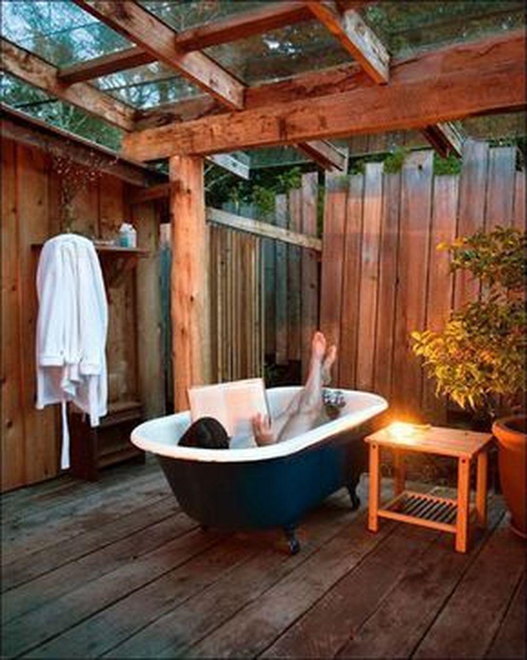 Creative Outdoor Bathroom Design Ideas For Enjoying Summer 27