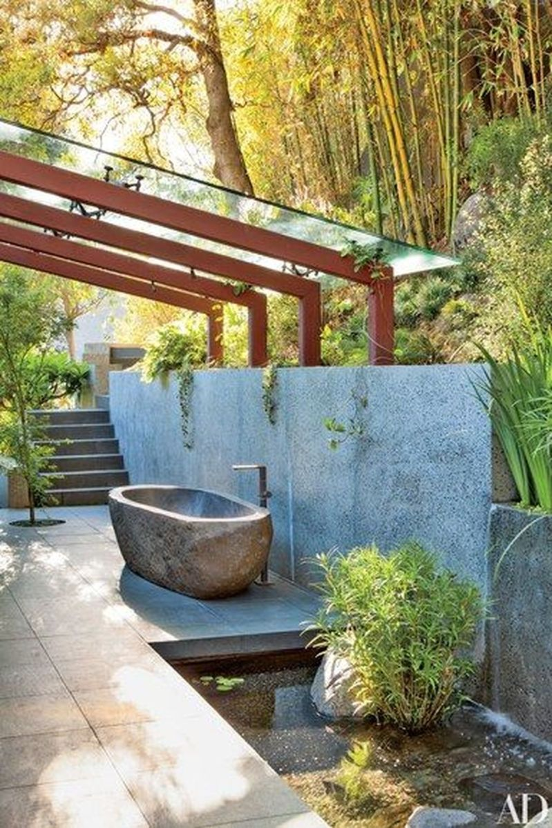 Creative Outdoor Bathroom Design Ideas For Enjoying Summer 29