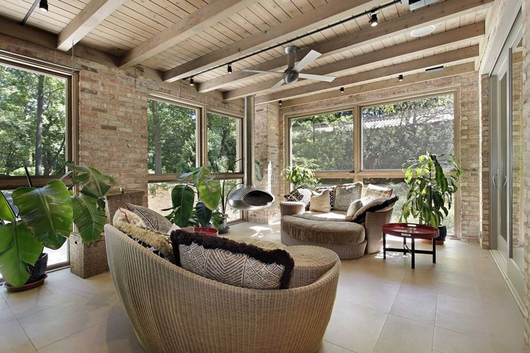 Gorgeous Modern Sunroom Design Ideas To Relax In The Summer 35