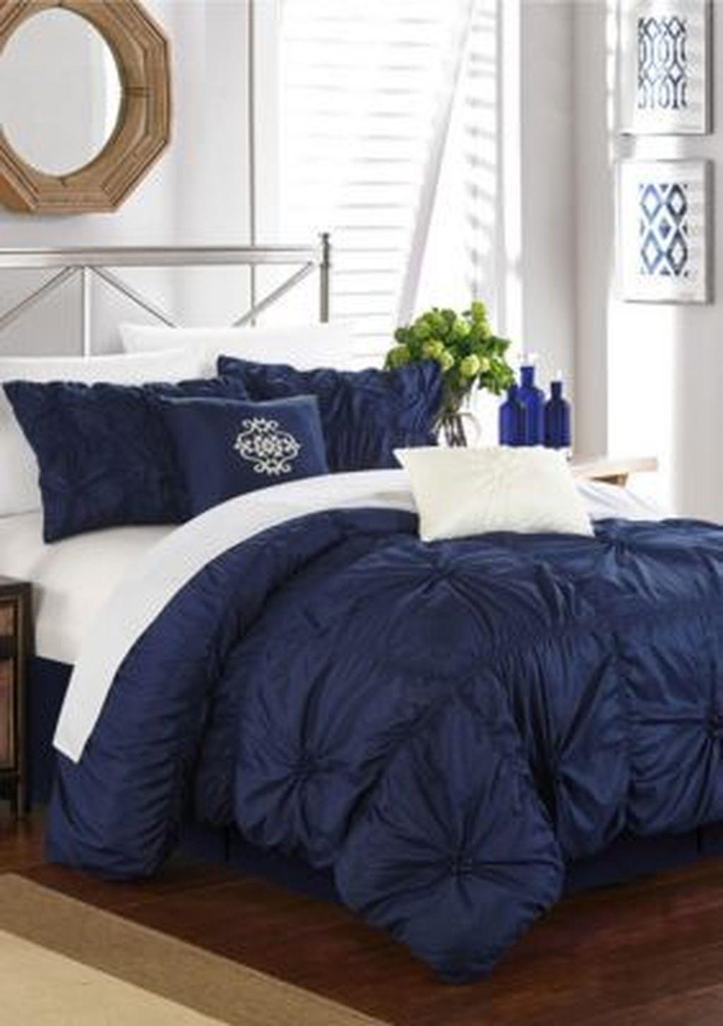 Inspiring Navy Blue Bedroom Decor Ideas You Should Copy 04
