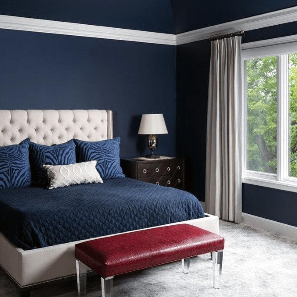 Inspiring Navy Blue Bedroom Decor Ideas You Should Copy 12