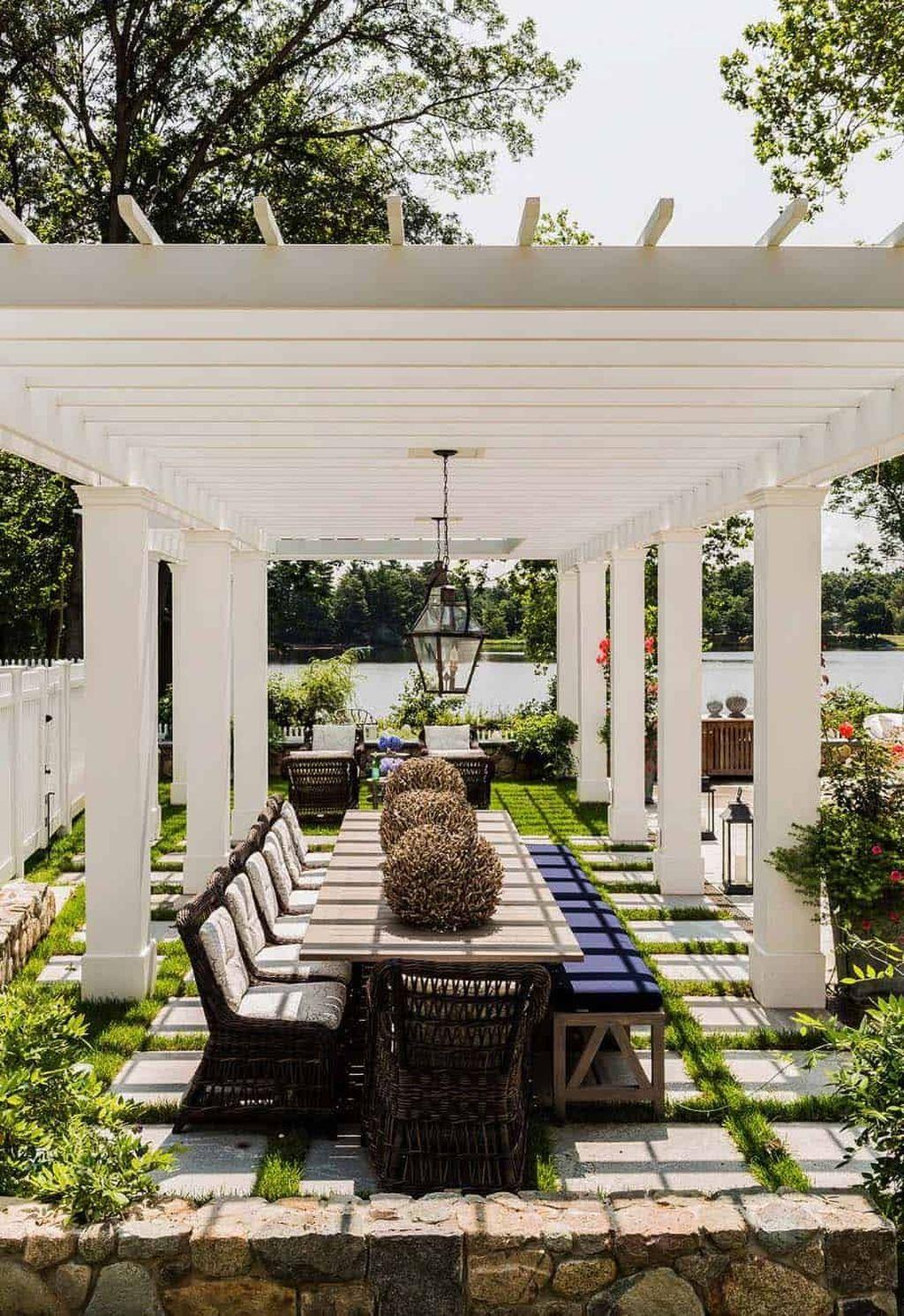 Inspiring Pergola Patio Design Ideas For Your Backyard Decor 10