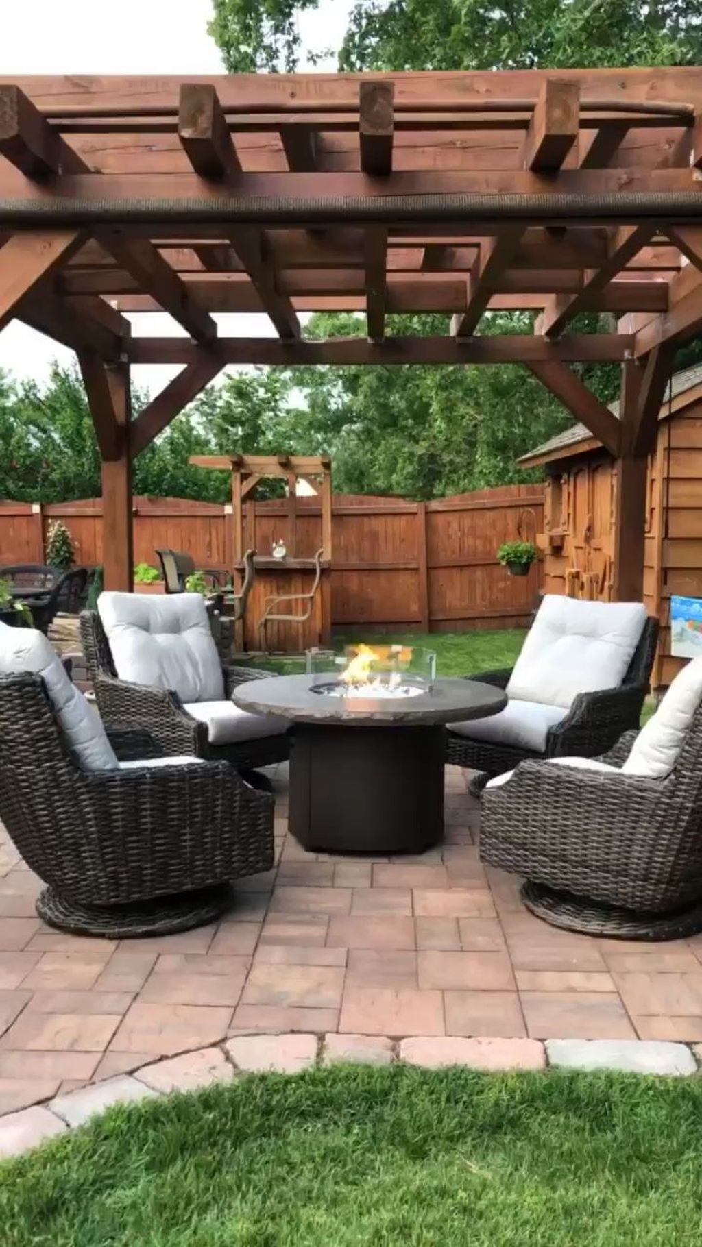 Inspiring Pergola Patio Design Ideas For Your Backyard Decor 29