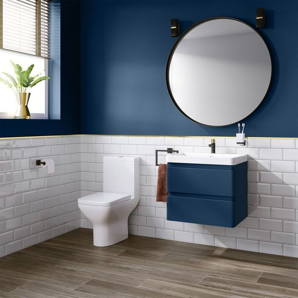 Nice Blue Color Bathroom Decor Ideas 02