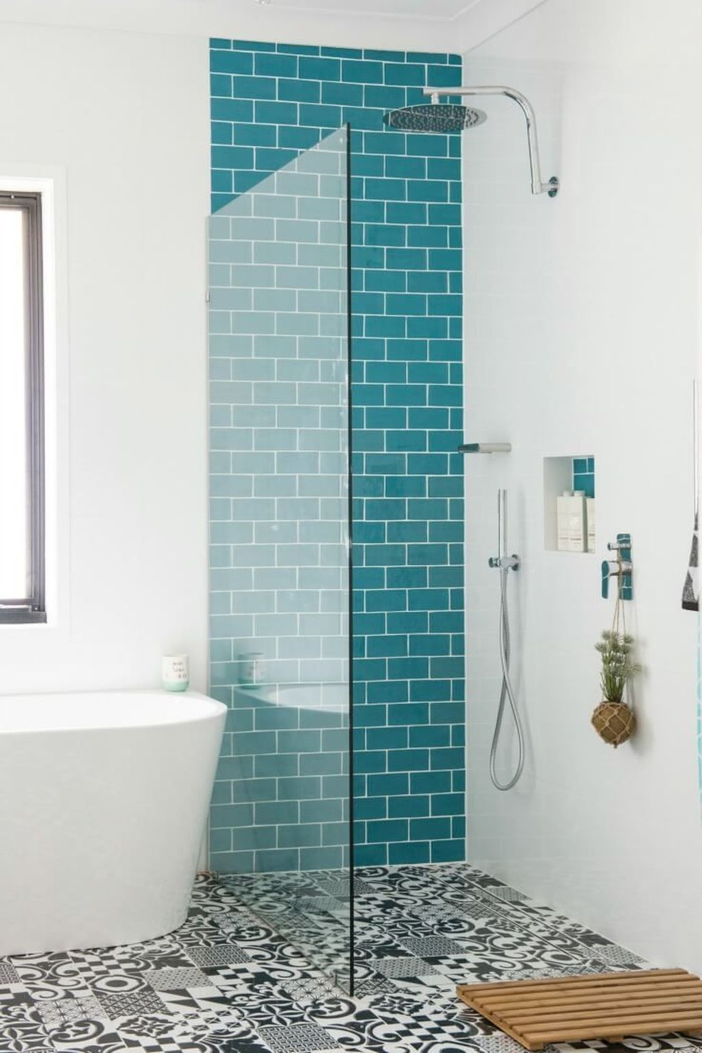 Nice Blue Color Bathroom Decor Ideas 03