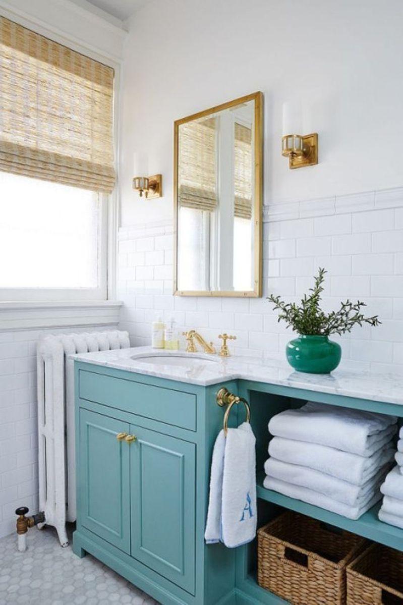 Nice Blue Color Bathroom Decor Ideas 11