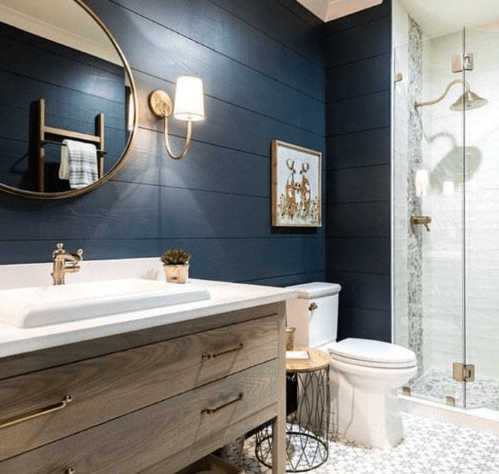 Nice Blue Color Bathroom Decor Ideas 16