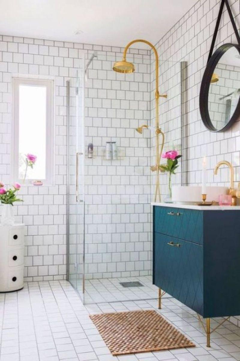 Nice Blue Color Bathroom Decor Ideas 26