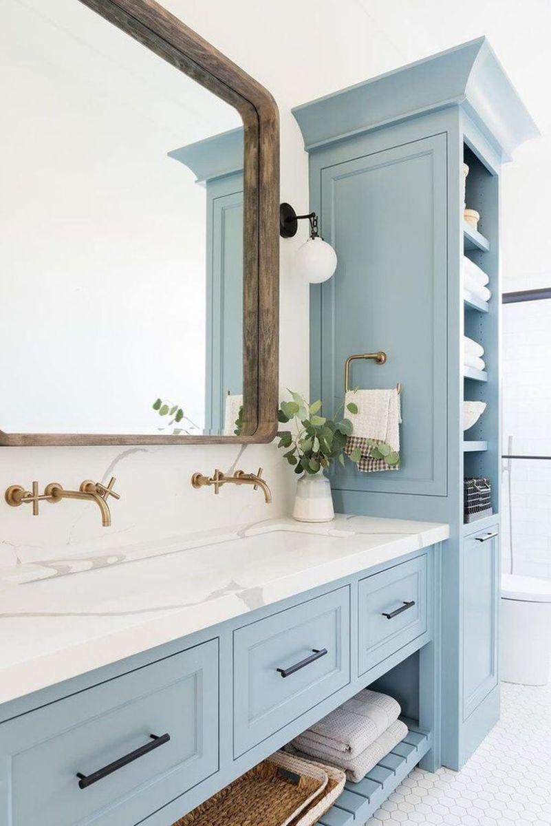 Nice Blue Color Bathroom Decor Ideas 30