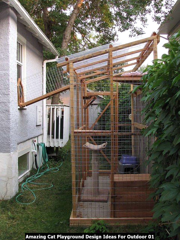 Amazing Cat Playground Design Ideas For Outdoor 01