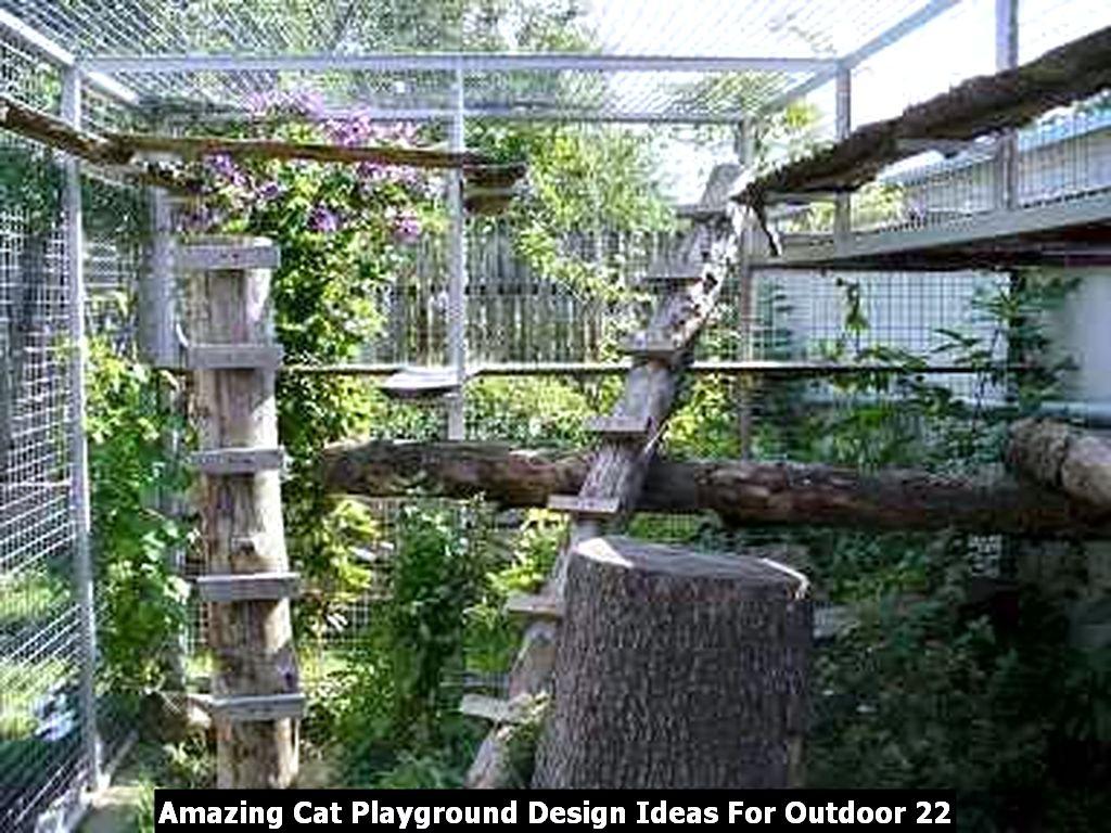 Amazing Cat Playground Design Ideas For Outdoor 22