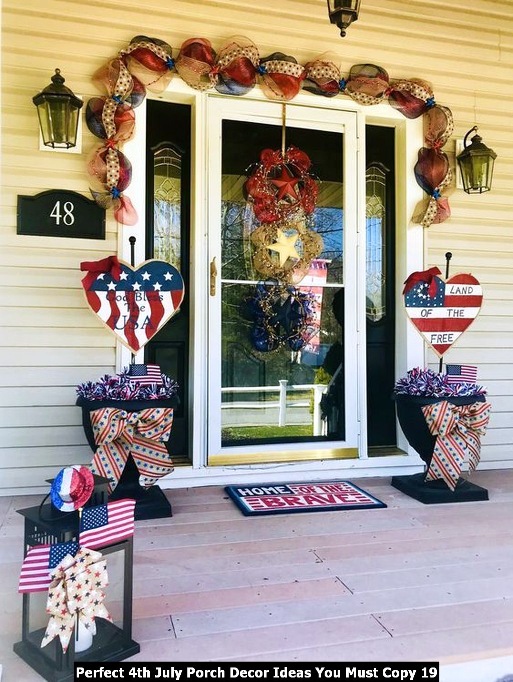 Perfect 4th July Porch Decor Ideas You Must Copy 19
