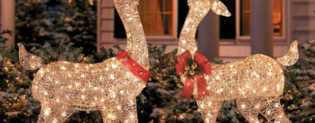 Outdoor Christmas Deer Decorations