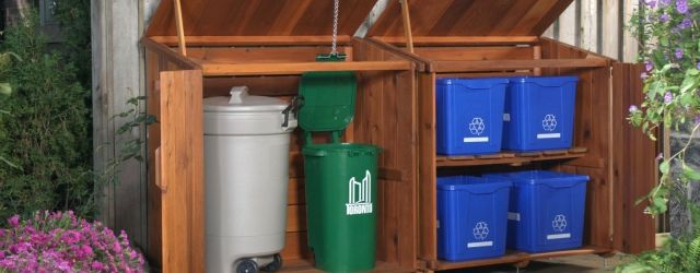 Outdoor Garbage Can Storage