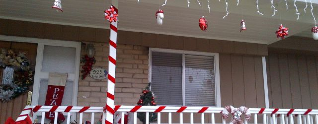 Outdoor Candy Cane Decorations