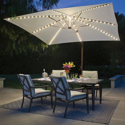 Outdoor Umbrella With Lights