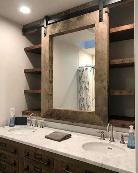 Farmhouse Bathroom Mirror