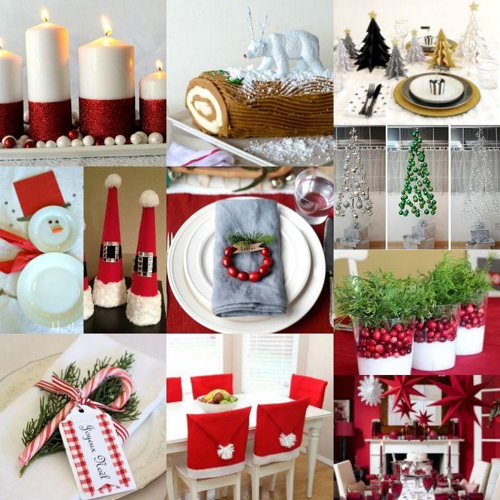 DIY Christmas Tabletop Decorations
