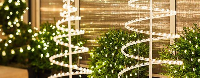 Outdoor Spiral Christmas Tree