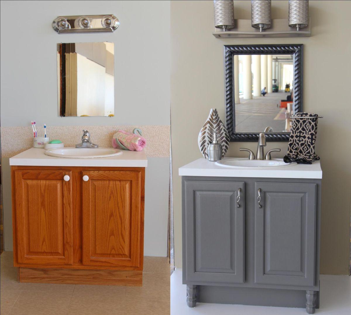 Painting Bathroom Vanity