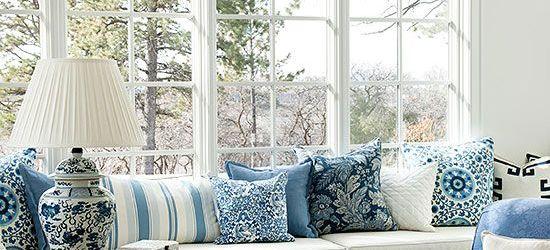 Blue And White Home Decor