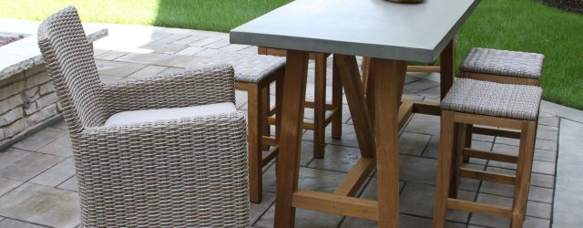 Counter Height Outdoor Table