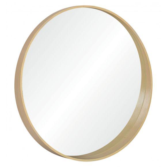 Miroir rond en chêne