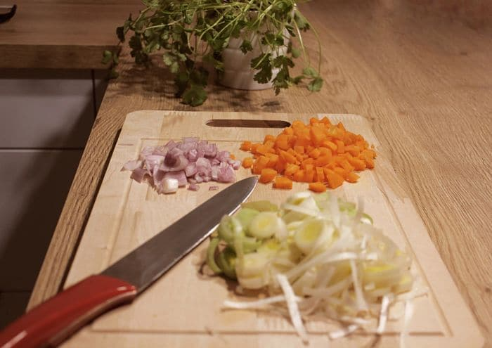 recette de riz aux légumes et knacki pour enfants