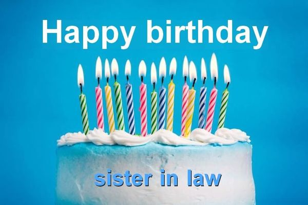 happy birthday sister in law charming images