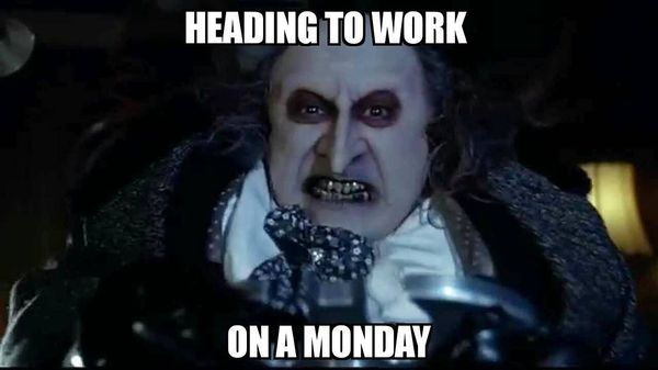 heading to work on a monday