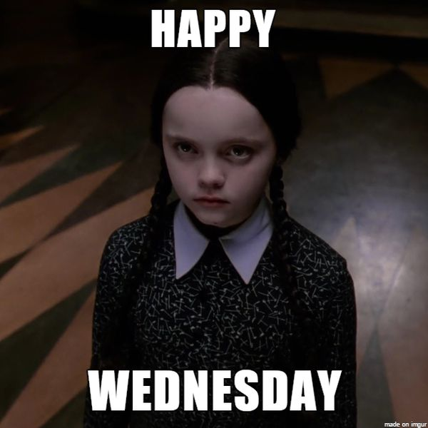 happy wednesday meme with sad girl