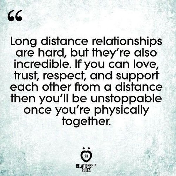 Long distance relationships are hard...