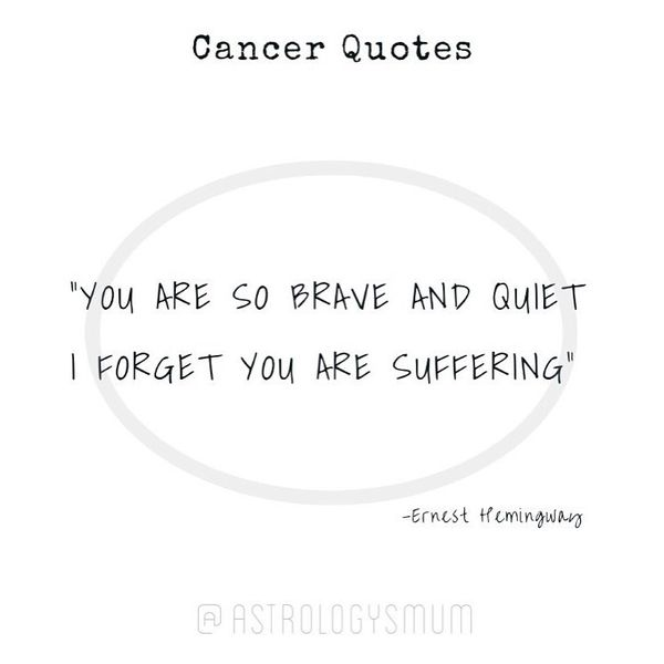 Good Quotes about Staying Strong Through Cancer with Deep Sense